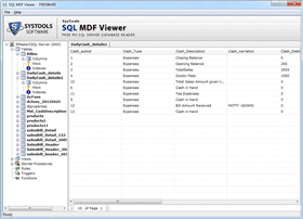 Free MDF Viewer a Freeware Tool to View the Data of SQL MDF File